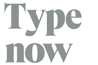 Type now: Independence and originality