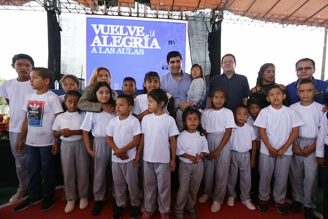 Inauguración de Clases en la Escuela de Educación Básica Río Guayas