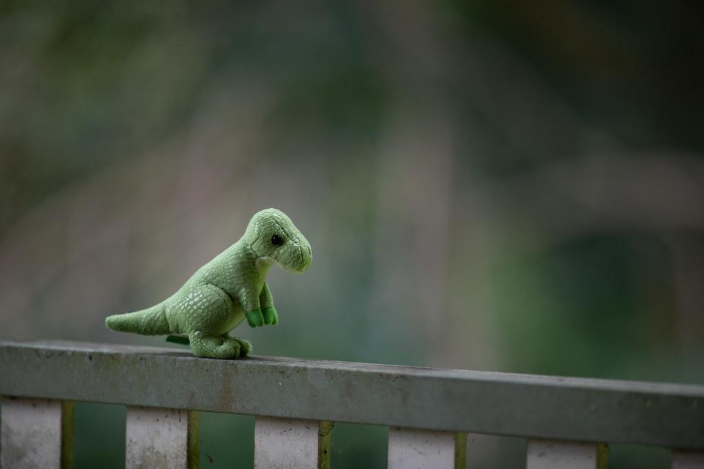 Image: Toy Dinosaur - Canon EF 200mm f/1.8L USM at f/2