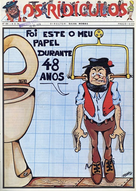 Capa de jornal antigo | old newspaper cover | Portugal 1970s