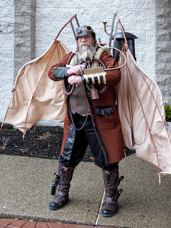 Bearded Steampunk Aviator With Articulating Wings