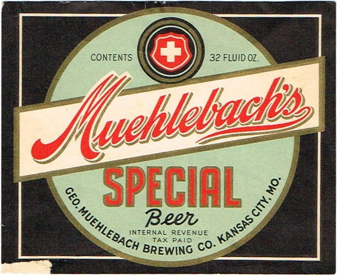 Muehlebachs-Special-Beer-Labels-Geo-Muehlebach-Brewing-Co
