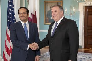 Secretary Pompeo Meets With Qatari Minister of Foreign Affairs Sheikh Mohammed bin Abdulrahman Al Thani