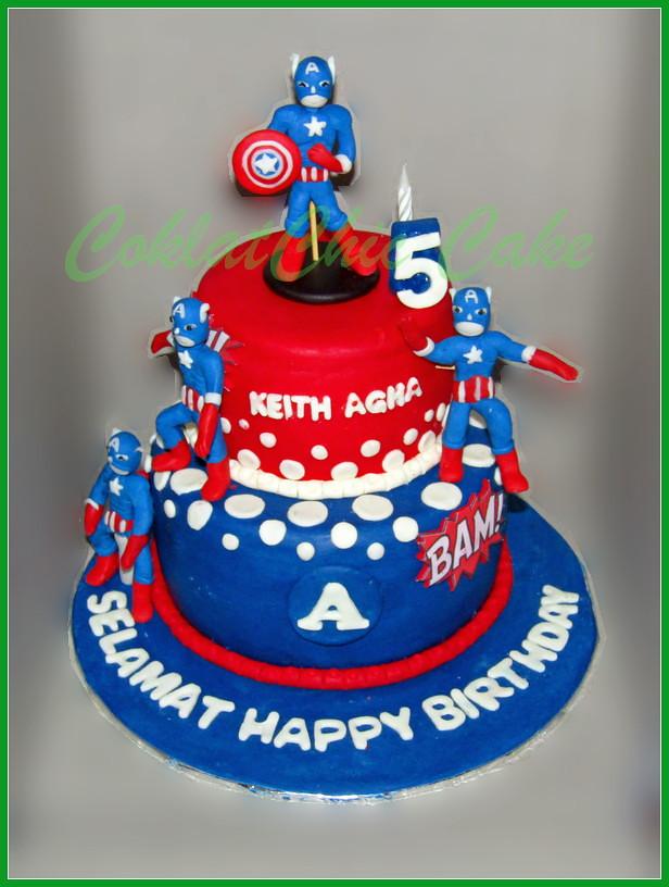 Cake Captain America KEITH AGHA 15/12 cm