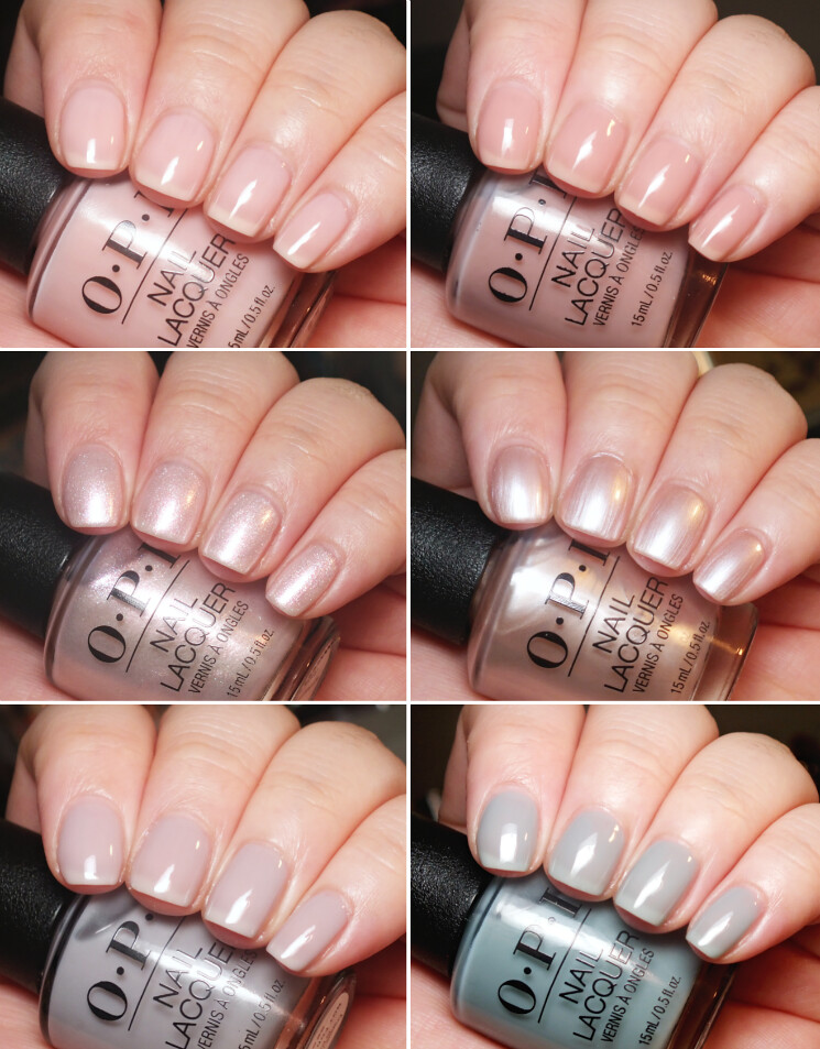 opi always bare for you soft shades collage
