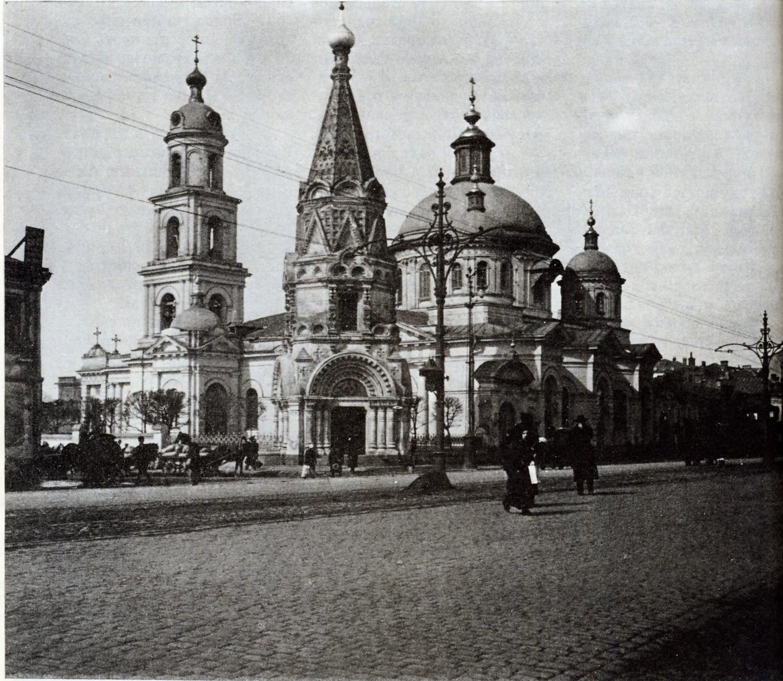 1-я Тверская-Ямская у императорской часовни. Пасха 1913 года