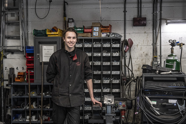Oliver Parker, Scenic Metalwork Apprentice © 2019 ROH. Photograph by Sim Canetty-Clarke