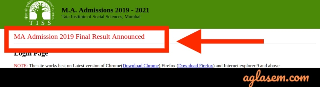 TISS MA Admission 2019 Final Result Announced