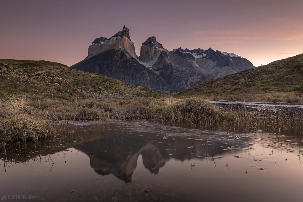Cuernos reflection before sunrise - Torres del Paine