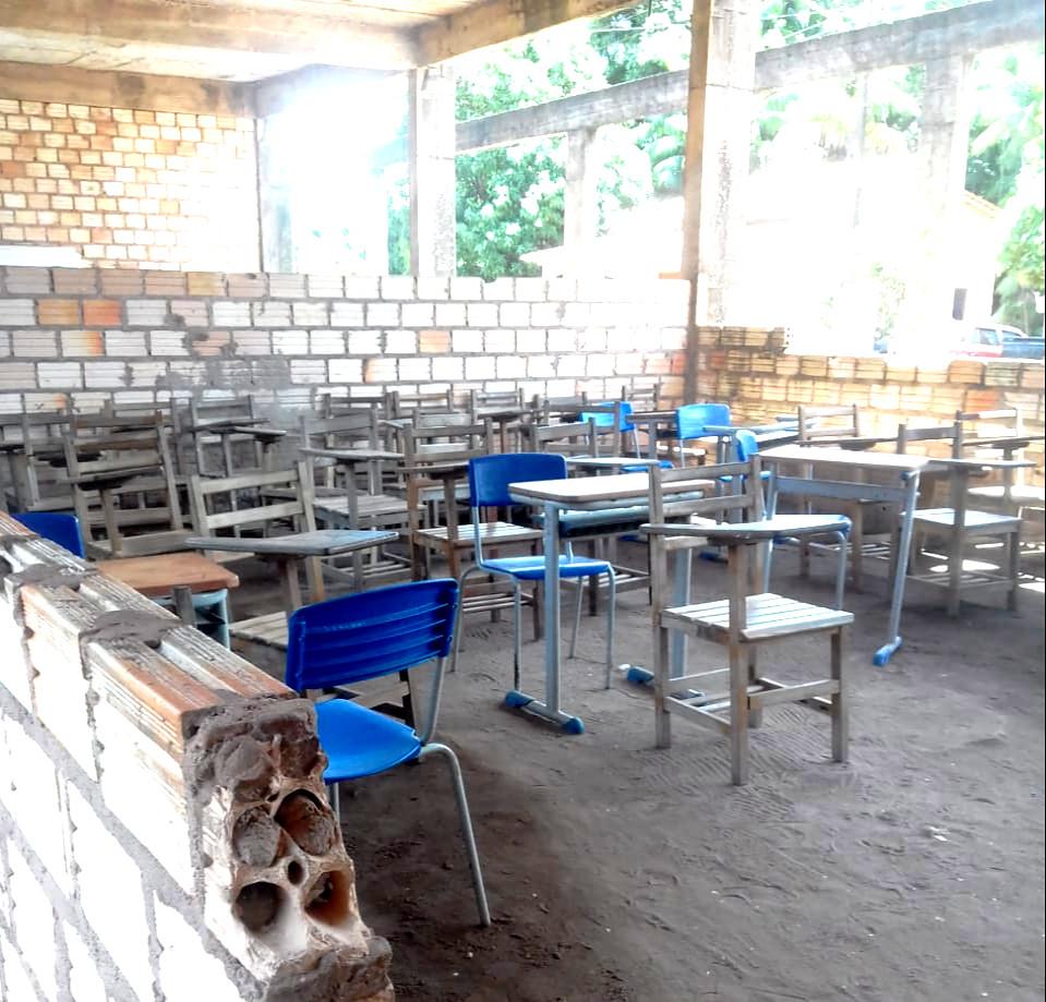 vc. repórter. Leitor fotografa escola 'caindo aos pedaços' na zona rural de Monte Alegre, Escola MA2