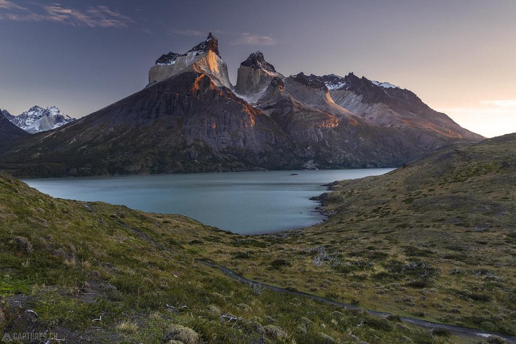 Cuernos at sunrise - Torres del Paine
