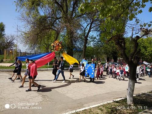 25.04.19 Ziua Drapelului de Stat la Oficiul teritorial de informare al Parlamentului cu reședința în orașul Leova