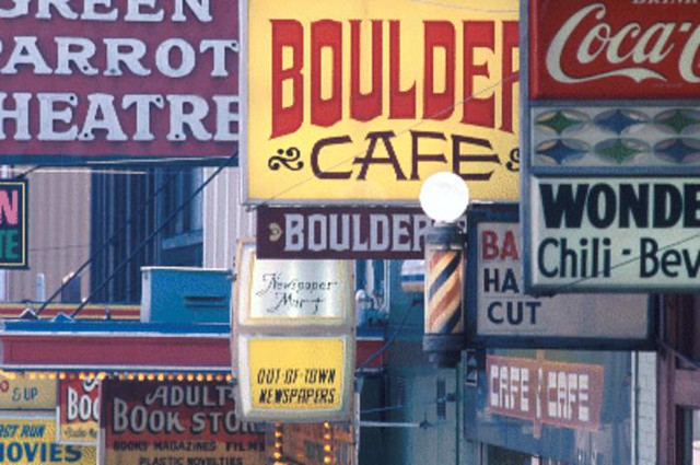 Street signs on First Avenue, 1972