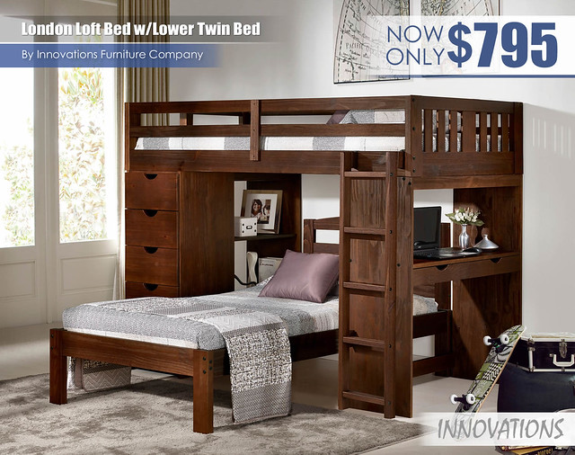 London Loft Bed wLower Twin Bed by Innovations
