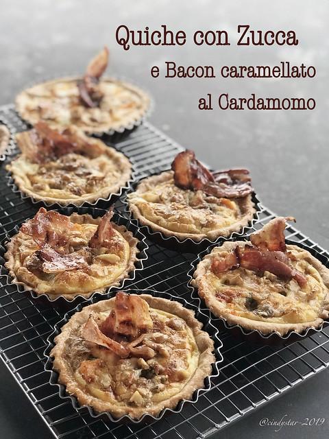 quiche zucca bacon caramellato