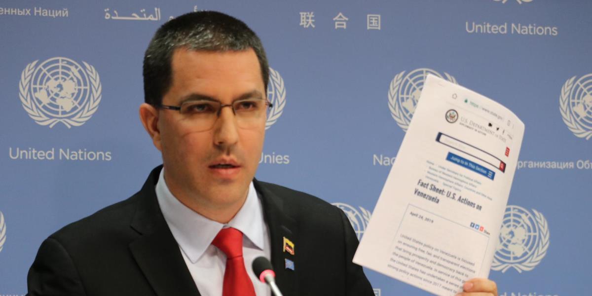 Canciller Arreaza denuncia ante la ONU efectos devastadores de las sanciones por parte de EEUU al pueblo venezolano