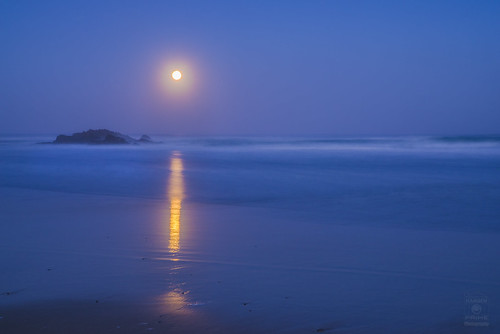 beach ocean waves longexposure reflection moon fullmoon full night water sand rock rocks landscape nature