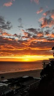 Sunset in Santa Monica.