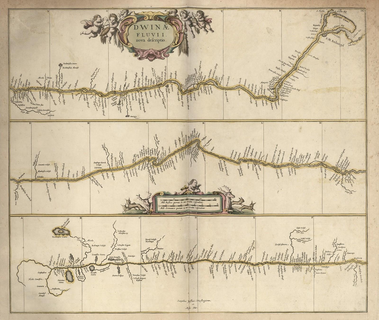 1680. Новое описание реки Двины, Мозес Васберген, Йоханнес ван Молл Питт, Голландия