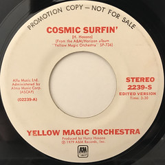 YELLOW MAGIC ORCHESTRA:COSMIC SURFIN'(LABEL SIDE-A)