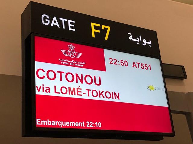 Rumbo Cotonou vía Lomé (Royal Air Maroc)