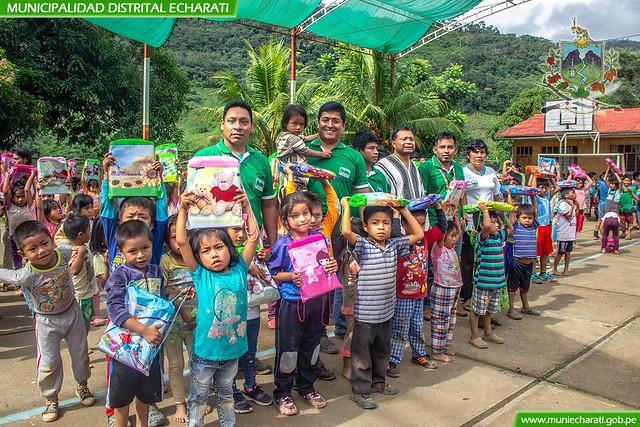 Se Entregó Kits Escolares a Instituciones Educativas de Shima