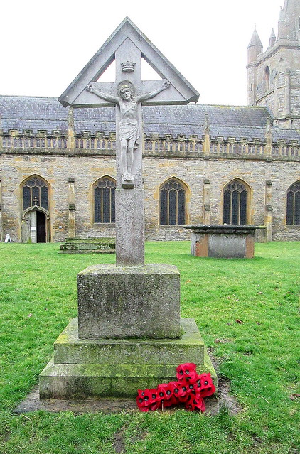 War Memorial in St Lawrence's Churchyard Near Evesham Abbey Tower
