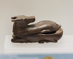 Praenestine wooden box in the form of a recumbent fawn