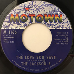 THE JACKSON 5:THE LOVE YOU SAVE(LABEL SIDE-A)