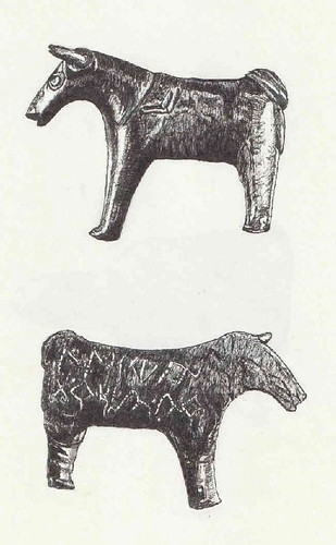Tésera Celtibérica (anverso y reverso)