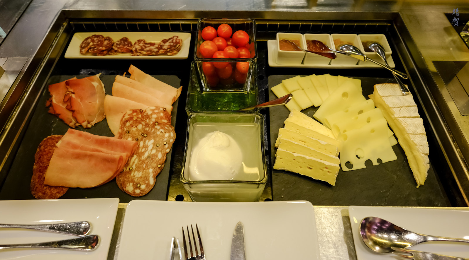 Charcuterie and cheese area