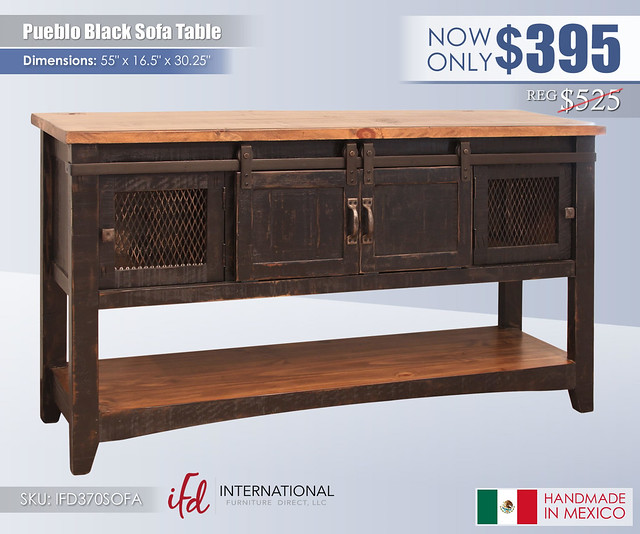 Pueblo Black Sofa Table_IFD370SOFA
