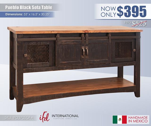 Pueblo Black Sofa Table_IFD370SOFA