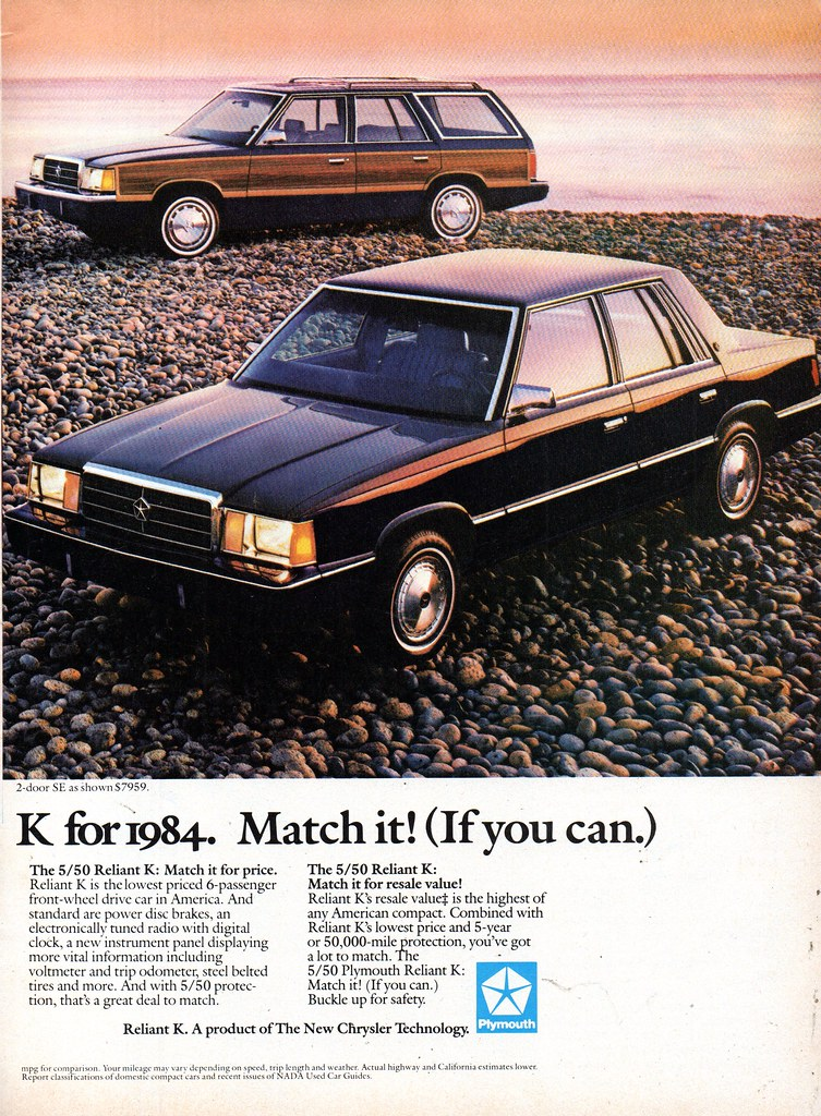 Behind the Wheel: My Mid-80's K-Cars – Core Dump |Plymouth Reliant White