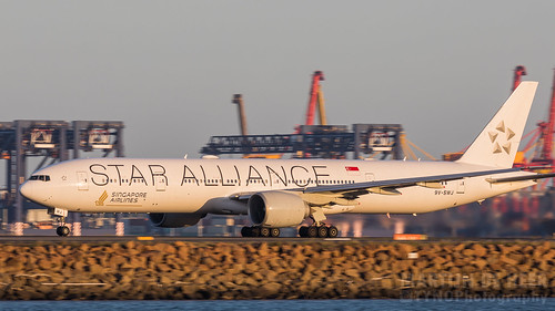 777 777300 777300er 77w 9vswj airlines alliance boeing singapore star sunset livery 2019 syd yssy