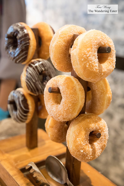 Stacks of mini doughnuts at JW Cafe