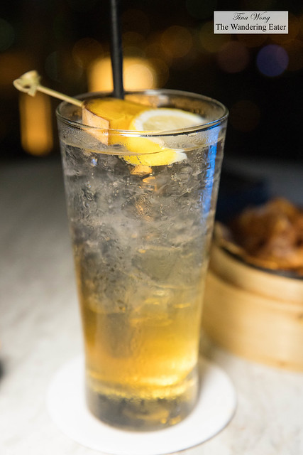 Chinese Highball - Mango infused Evan Williams Bourbon, green tea, soda water, honey