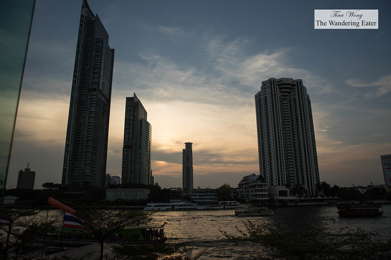 Sunset view of Chao Phraya River