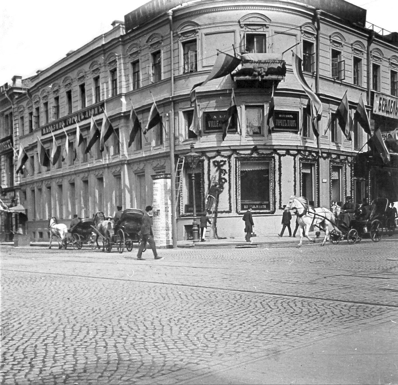 Угол Неглинного проезда и улицы Кузнецкий мост. 1910-е