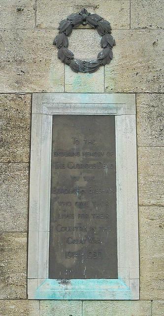 Evesham War Memorial Inscription