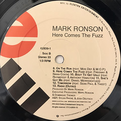 MARK RONSON:HERE COMES THE FUZZ(LABEL SIDE-B)