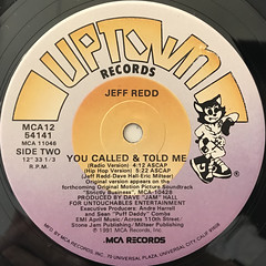 JEFF REDD:YOU CALLED & TOLD ME(LABEL SIDE-B)