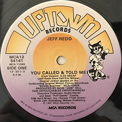 JEFF REDD:YOU CALLED & TOLD ME(LABEL SIDE-A)
