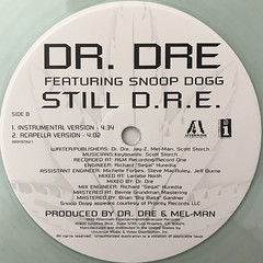 DR. DRE FEATURING SNOOP DOGG:STILL D.R.E.(LABEL SIDE-B)