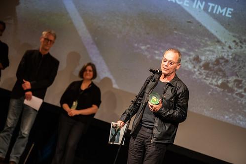CE19 - awards ceremony // Thomas Heise (Winner Social Awareness Award - Best Documentary) photo © Andreas Wörister / subtext.at