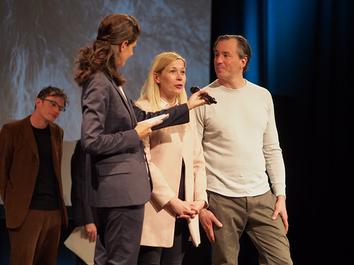 CE19 – awards ceremony // CE19 – awards ceremony // Moderator Karin Schmid, Doris Lang-Mayerhofer (City Councilor of Culture, Tourism and Creative Industries), Patrick Bartos (Managing Director of the Creative Region) //photo © Michael Straub /