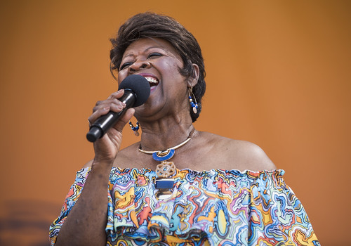 Irma Thomas at the Acura Stage during Jazz Fest day 4 on April 28, 2019. Photo by Ryan Hodgson-Rigsbee
