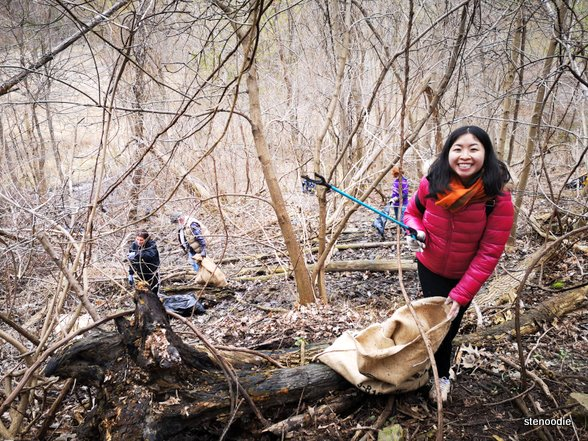 cleaning up the Don Valley Ravine in April 2019