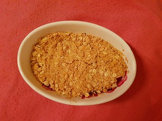 Nutty Plum Crumble