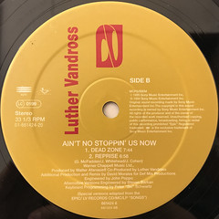 LUTHER VANDROSS:AIN'T NO STOPPIN' US NOW(LABEL SIDE-B)